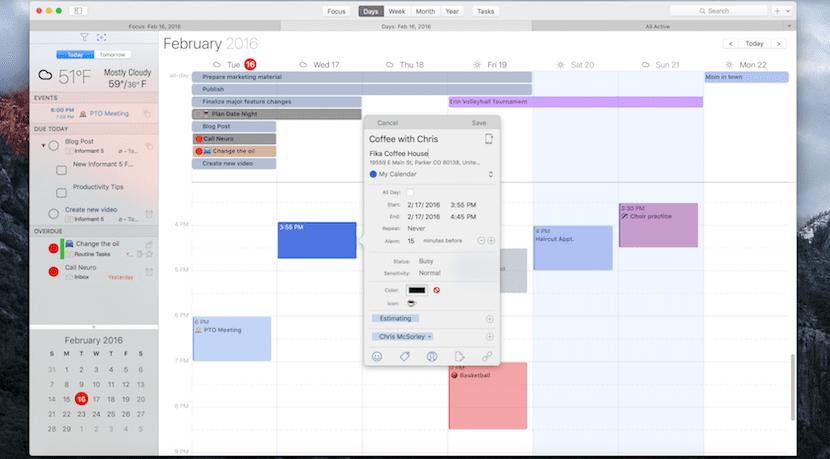 Informant for Mac, el calendario que integra tareas, eventos, proyectos y más