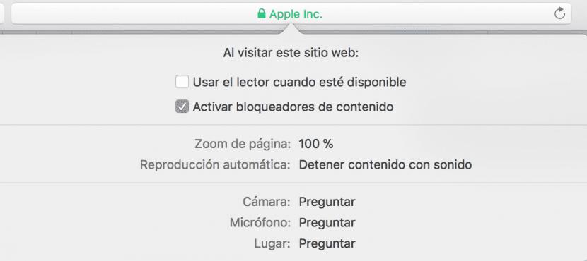 Safari 11 Personalizar web