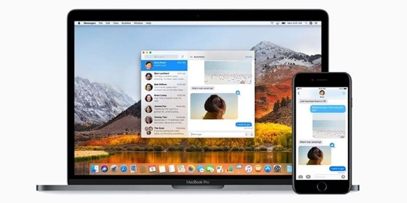 Sincronización de mensajes a través de iCloud