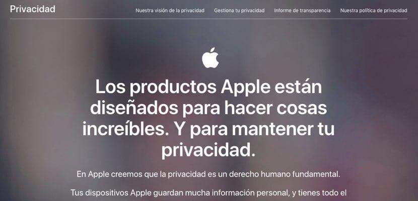 Apple renueva su página de Privacidad