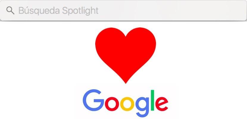 Spotlight dependerá de Google