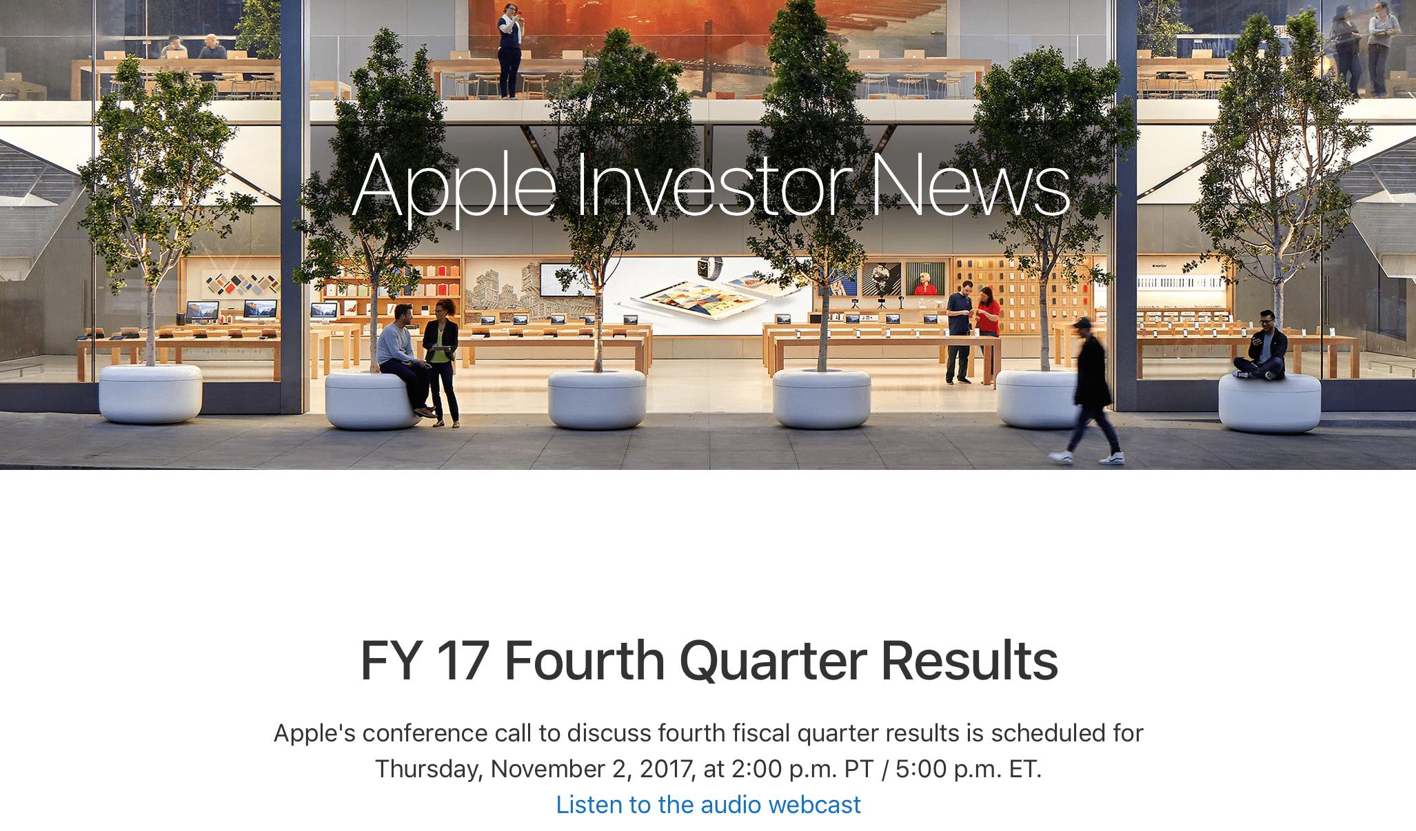 Apple Q4 2017