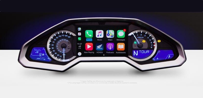 Honda Goldwing 2018 con Apple CarPlay