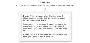 Tyke para Mac gratis ap de notas
