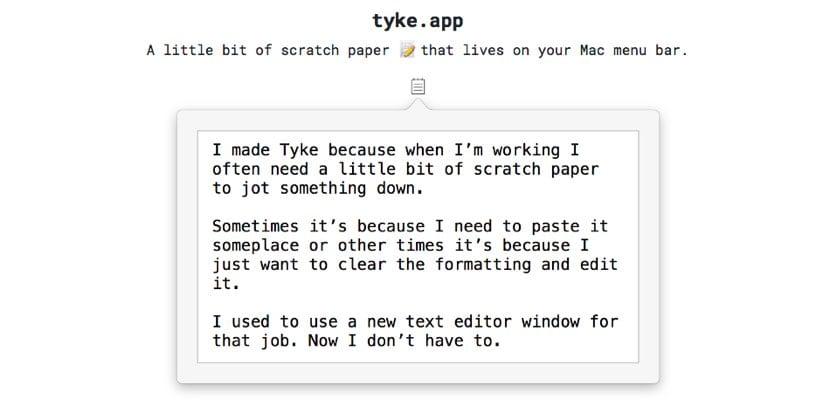 Tyke para Mac gratuita ap de notas