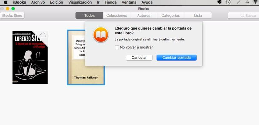 Confirmación portadas iBooks Mac