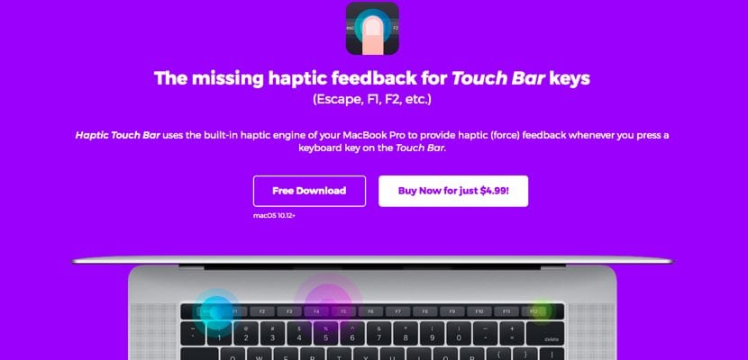 Touch Bar MacBook Pro háptica