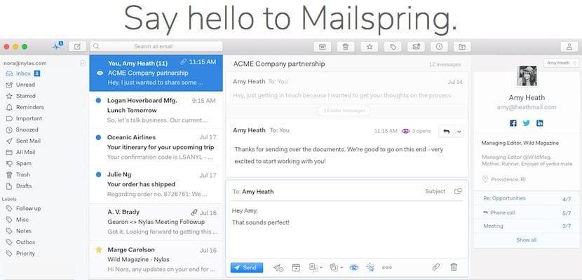 Mailspring, una alternativa más que válida para Mail