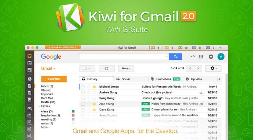 Kiwi for Gmail, un cliente de mail para Gmail con un gran número de funciones