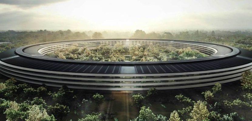 Apple Park visita drone diciembre 2017