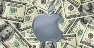 Apple logo dolares