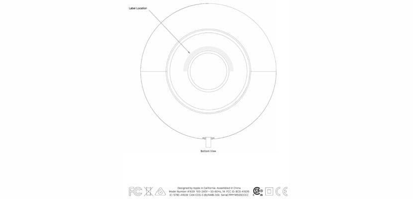 etiqueta FCC para HomePod