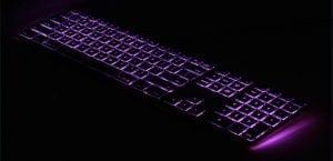 teclado aluminio Matias retroiluminación RGB