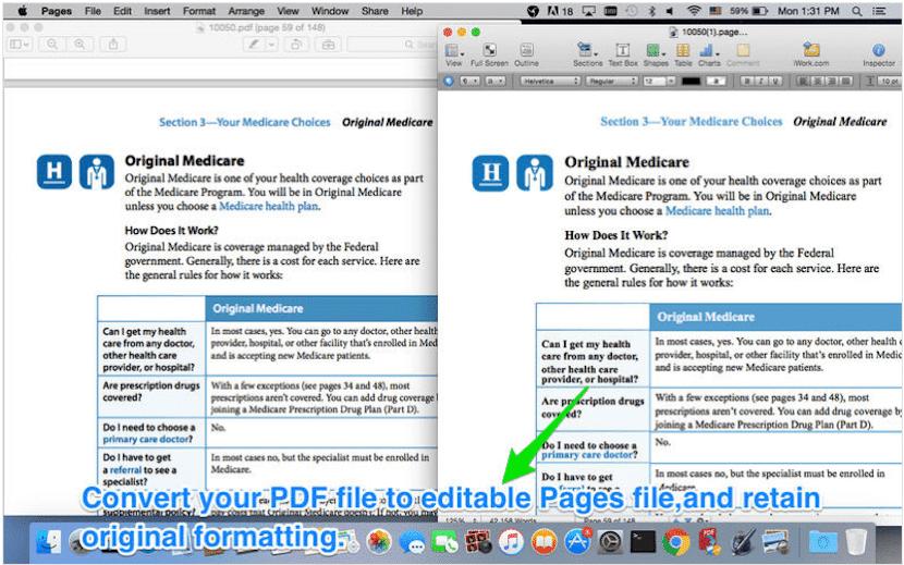 Convierte archivos en formato PDF a iWork con PDF to iWork