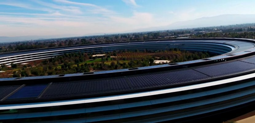 vídeo drone Apple Park 2018