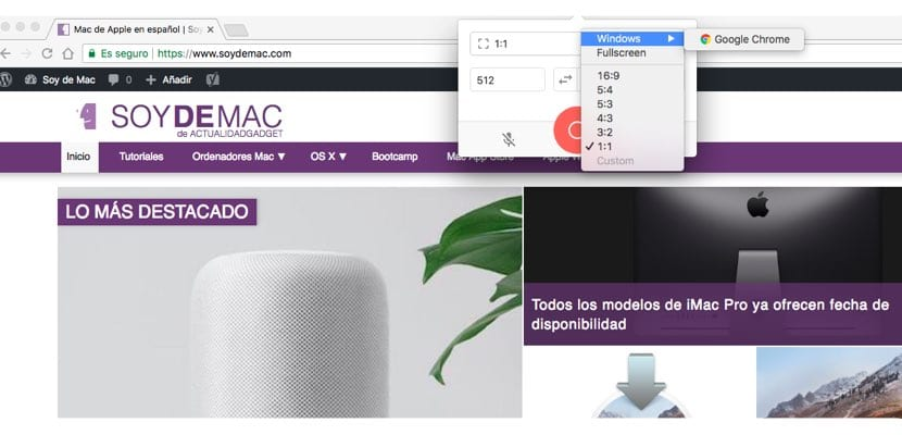 Kap apps para grabar monitor del Mac