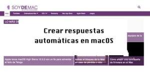 creación respuestas automáticas en macOS