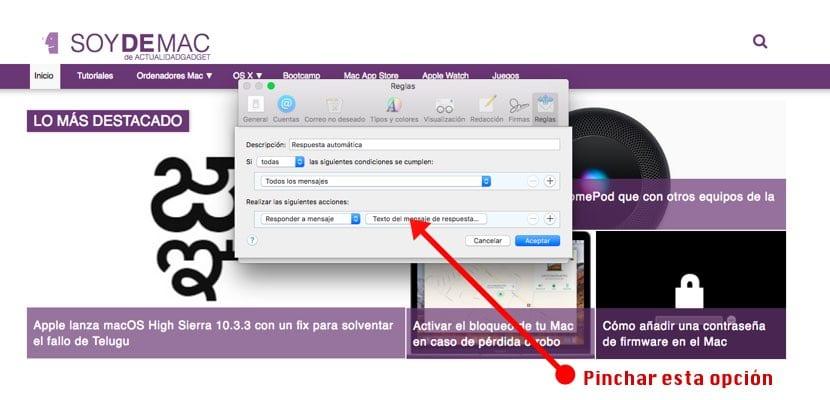 Configuración respuestas automáticas en macOS imagen2