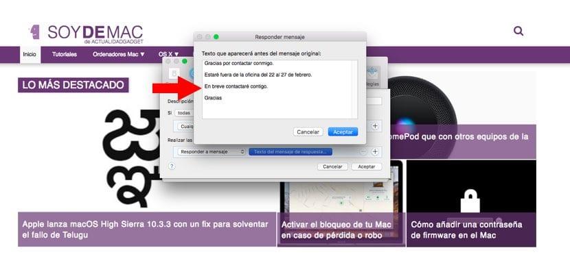 Configuración respuestas automáticas macOS imagen3