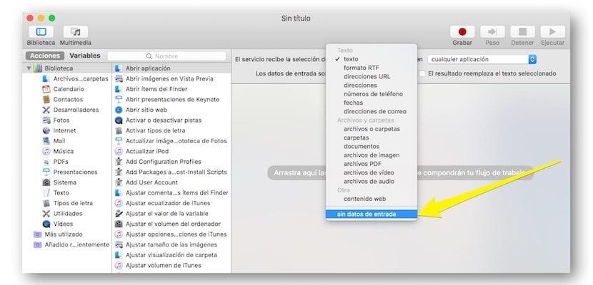 Configurar abrir aplicación en Automator