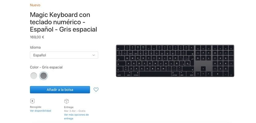 Magic Keyboard gris espacial
