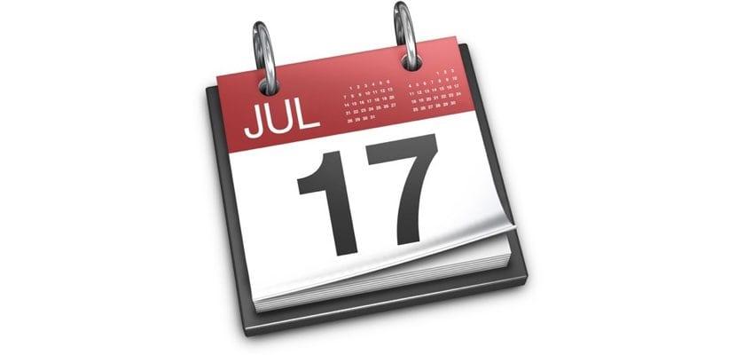 Eventos Calendario Mac en lista