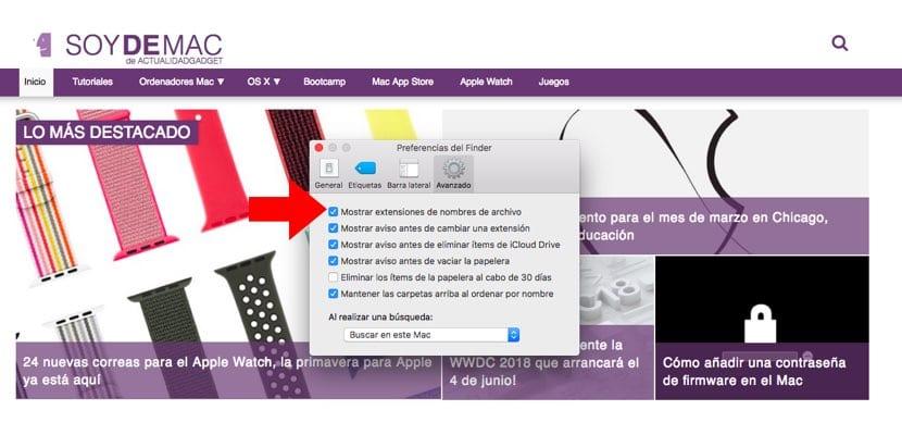 extensiones archivos visibles siempre en Mac