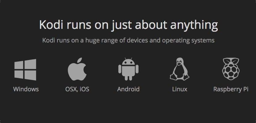 plataformas compatibles con Kodi