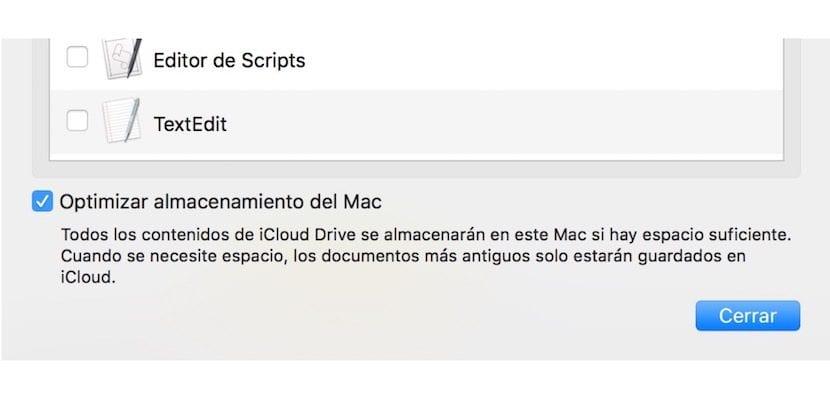 Optimizar espacio Mac por iCloud