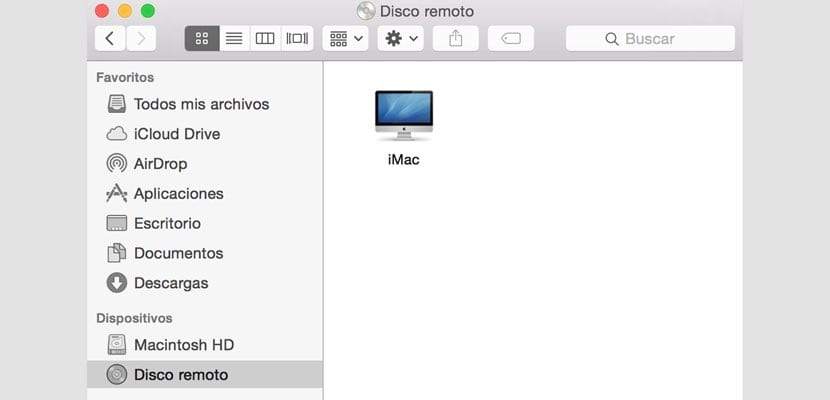 Compartir CD en red macOS