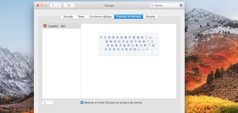 Selección tipo de teclado
