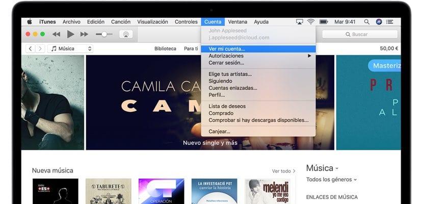gestionar suscripciones iTunes macOS