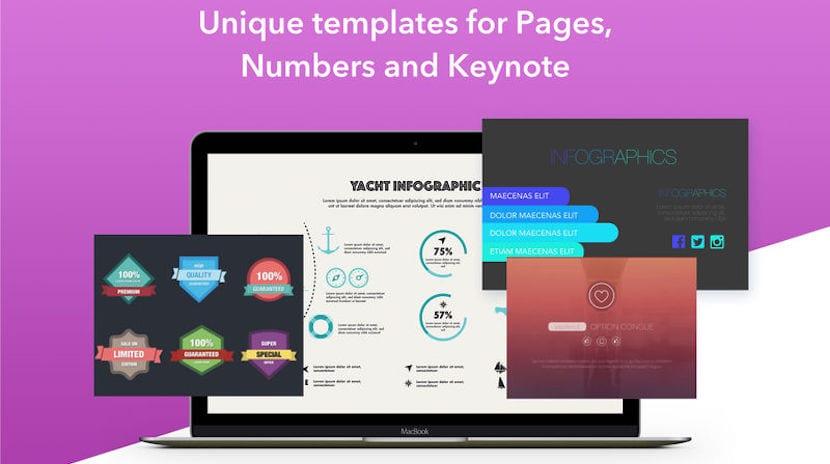 GN Templates for iWork nos ofrece más de 3000 plantillas para Pages, Numbers y Keynote