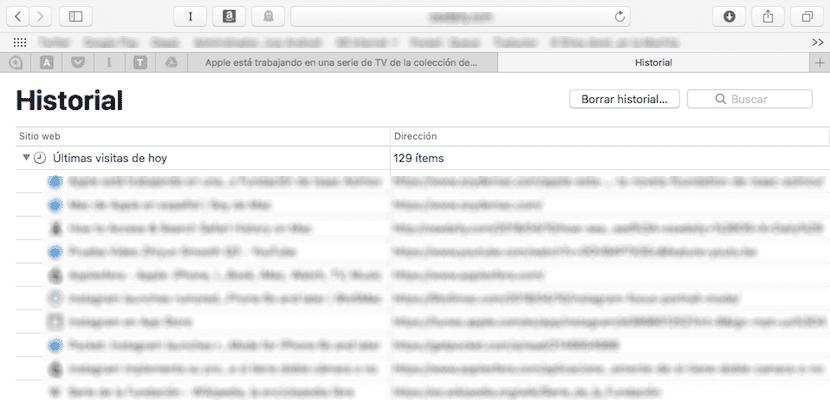 Cómo borrar parte del historial de Safari en el Mac