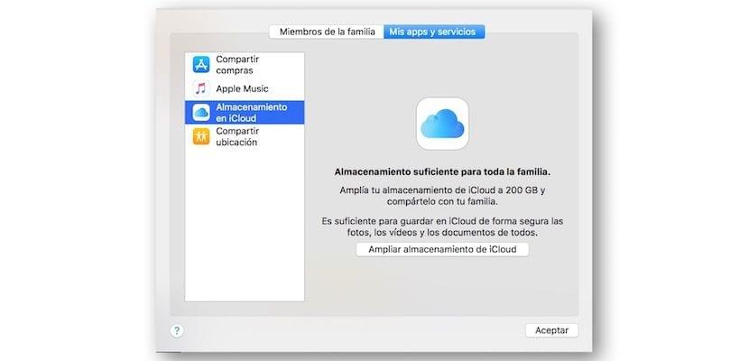 iCloud Drive en familia