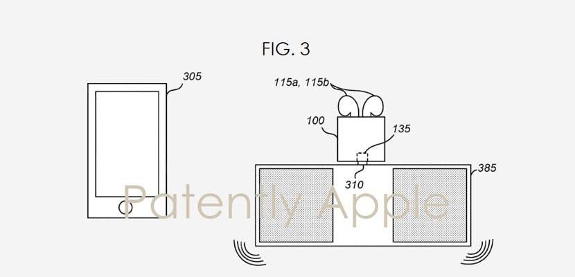 patente AirPods funda inalámbrica