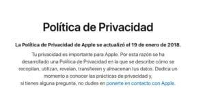 Política Privacidad Apple