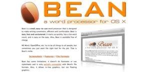 Procesador de textos Bean para macOS