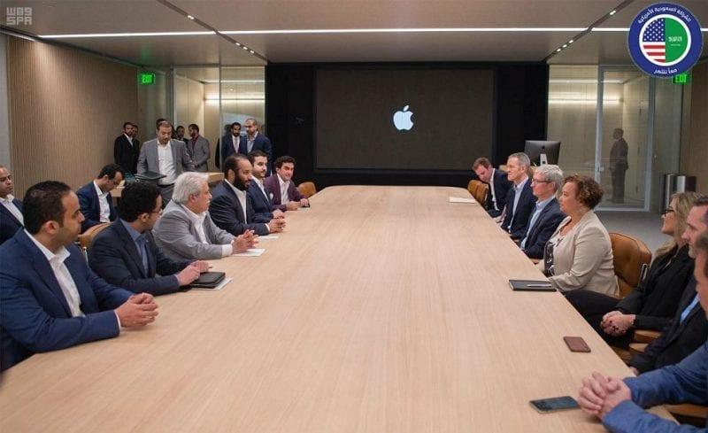 El Principe Saudí se interesa en el Apple Park del programa de educación de Apple