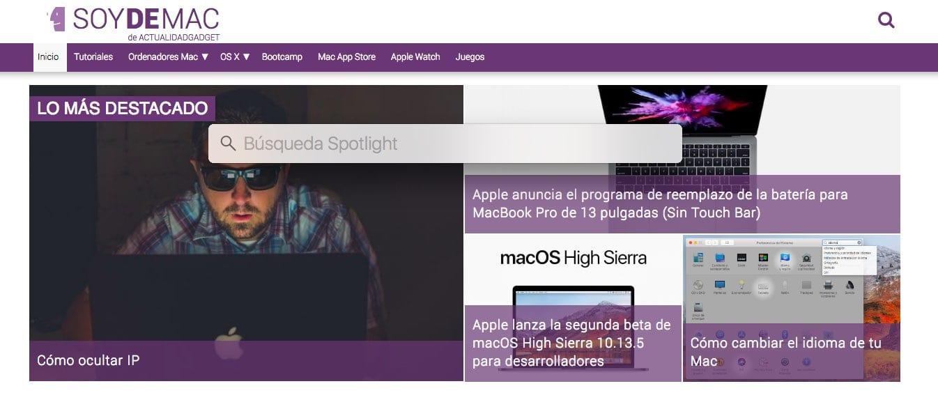 abrir enlaces Spotlight macOS