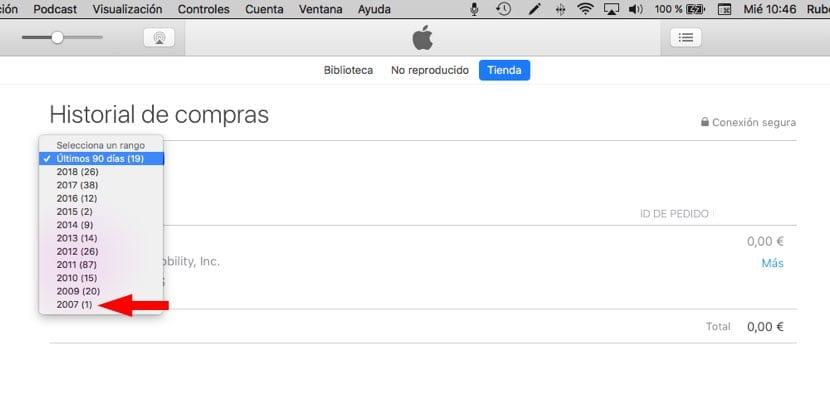 Apple ID fecha creación