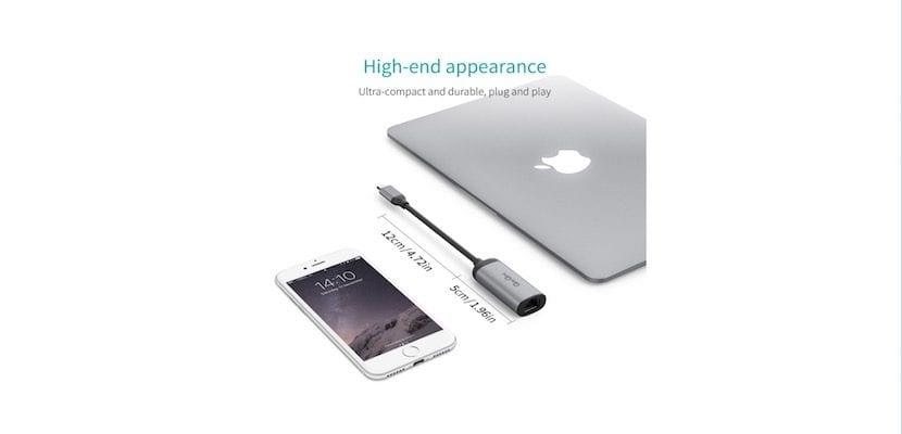 Conversor USB-C a Ethernet-concepto