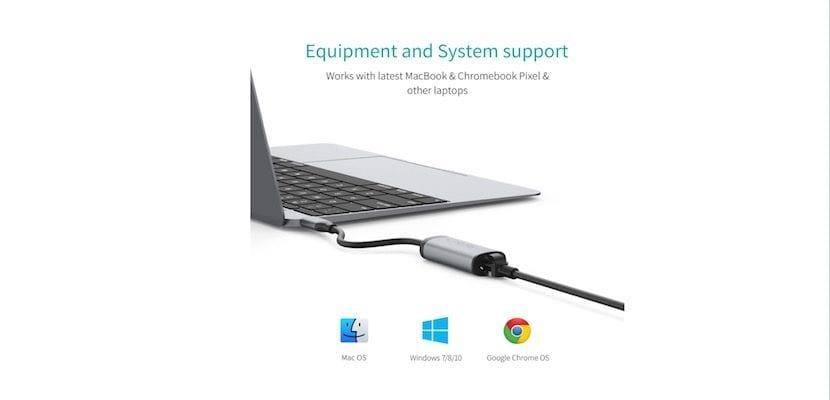 Conversor USB-C a Ethernet-conector