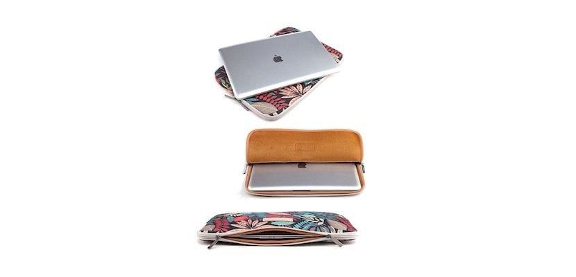 Interior funda slim MacBook 12