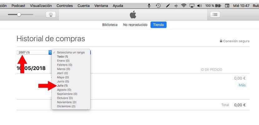 fecha exacta creación Apple™ ID desde Mac