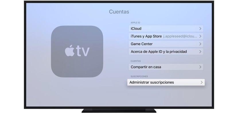 gestión suscripciones Apple TV