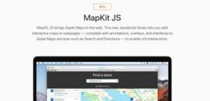 MapKit JS en fase beta