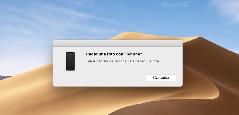 Continuity en macOS Mojave ventana
