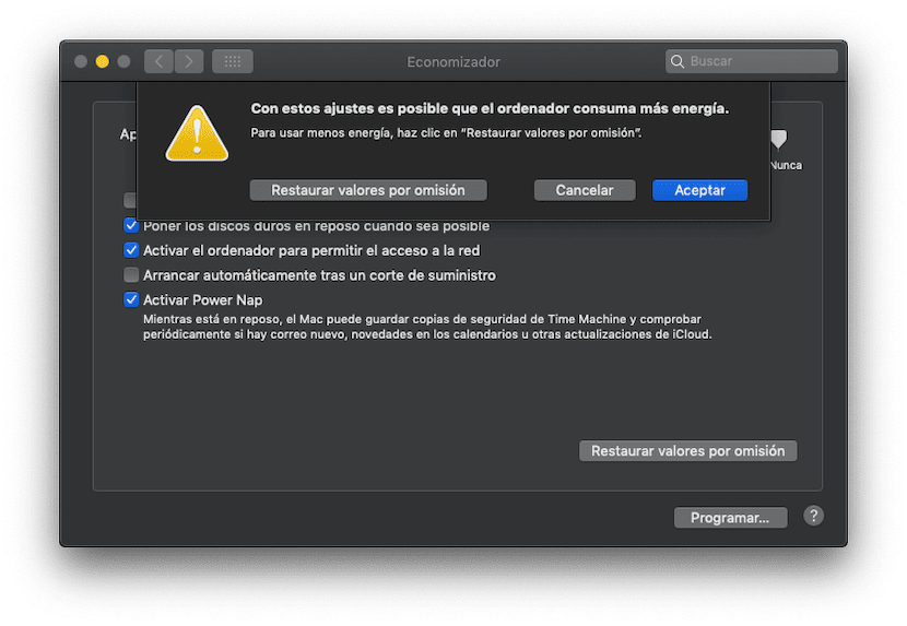 Evitar que el Mac entre en modo reposo