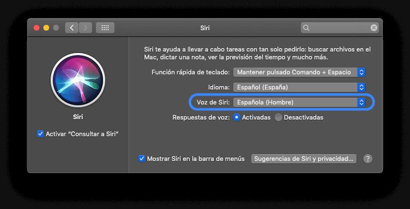 Elegir el género de la voz de Siri en Mac